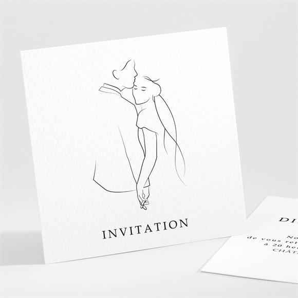 Carton d'invitation mariage Belle Esquisse réf.N301231