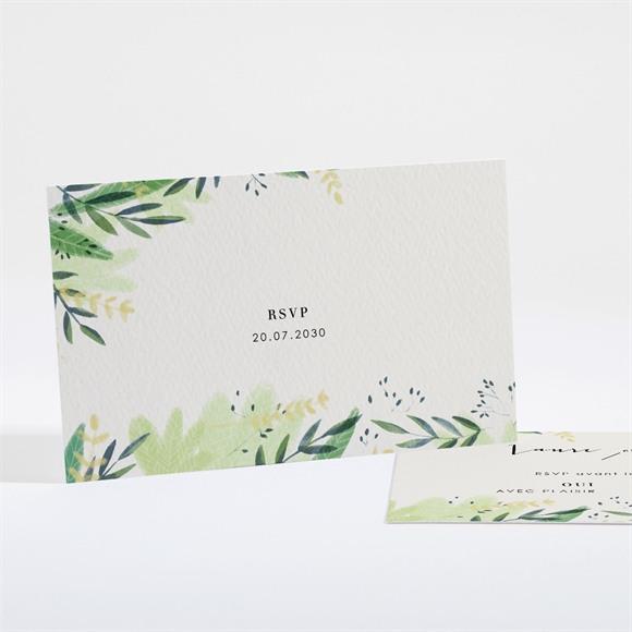Carton réponse mariage Univers végétal réf.N161151