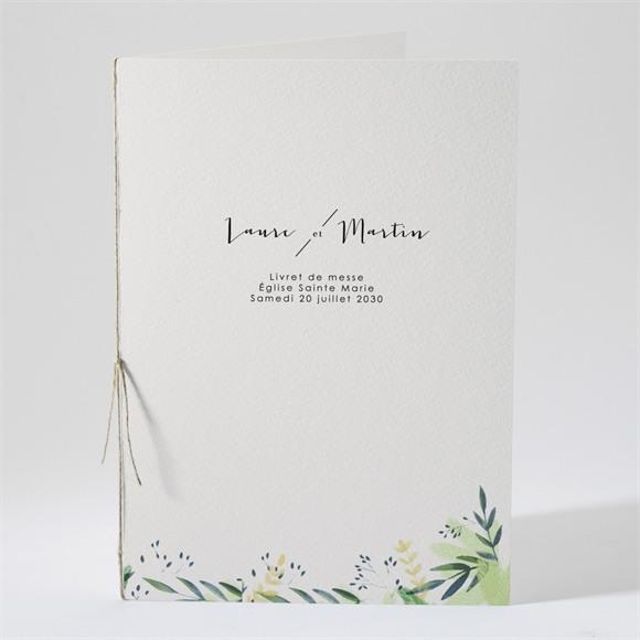 Livret de messe mariage Univers végétal réf.N491219