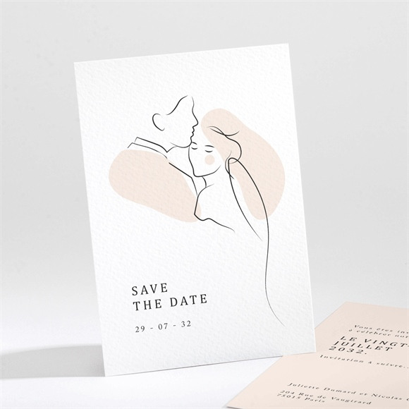 Save the Date mariage Tendres réf.N211291