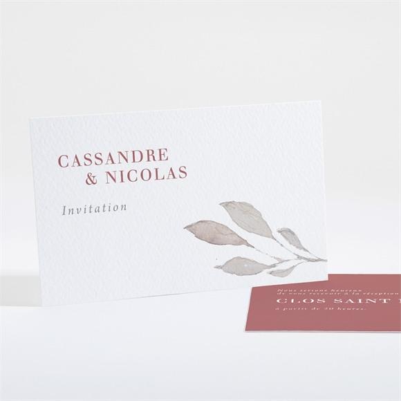 Carton d'invitation mariage Élégance Rose réf.N161154