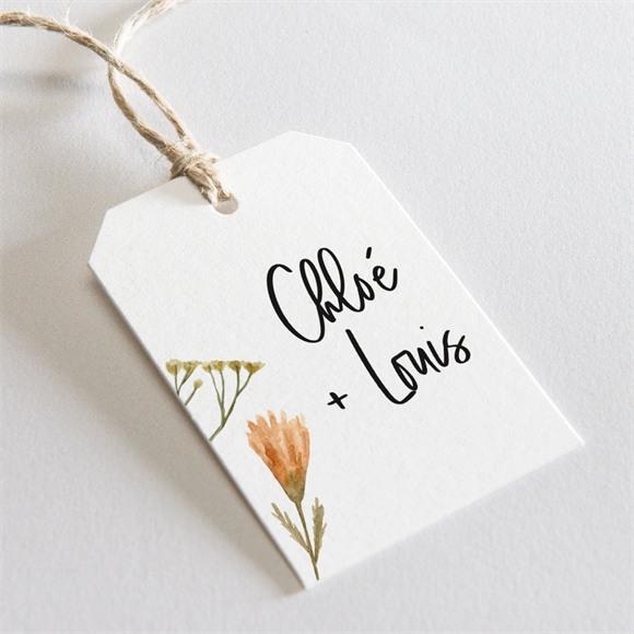 Etiquette mariage Art Champêtre réf.N29178