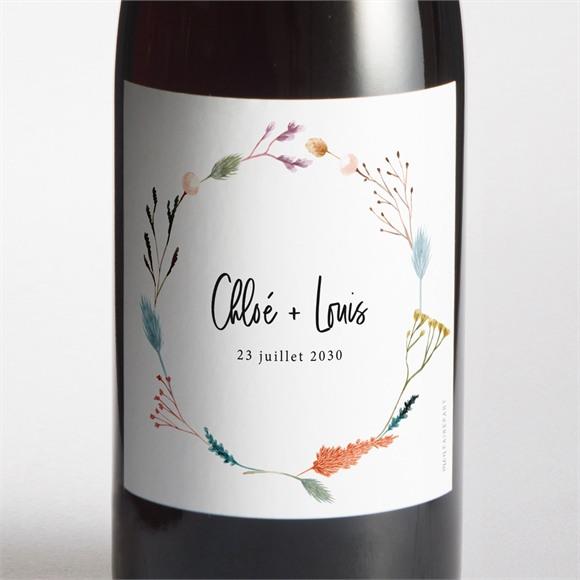 Etiquette de bouteille mariage Art Champêtre réf.N3001632