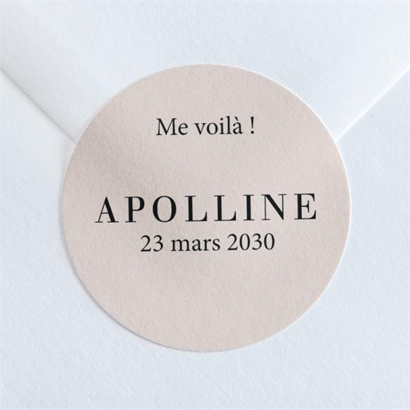Sticker naissance Tendre Cadre réf.N360110