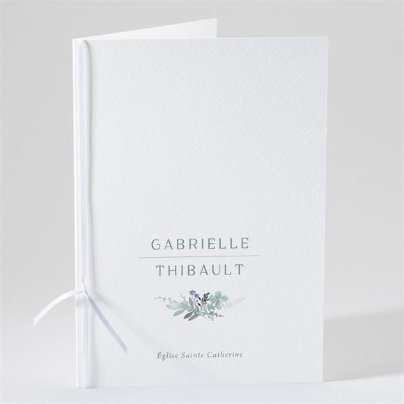 Livret de messe mariage Poésie d'Aquarelle réf.N491223