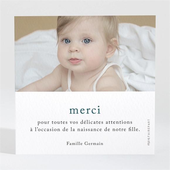 Remerciement naissance Jolie Comptine réf.N3001635