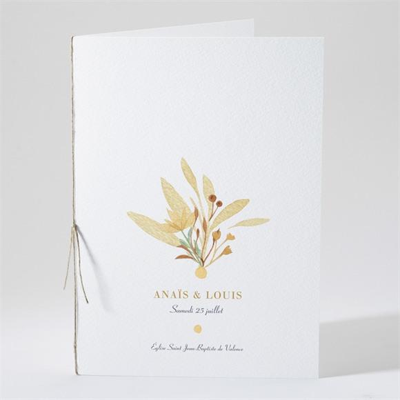 Livret de messe mariage Nature et Lumière réf.N491224