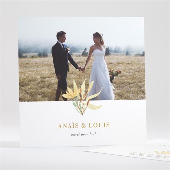 Remerciement mariage Nature et Lumière réf.N351122