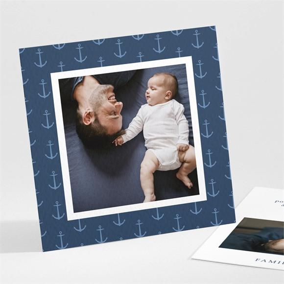 Remerciement naissance Ancres et motifs réf.N301249