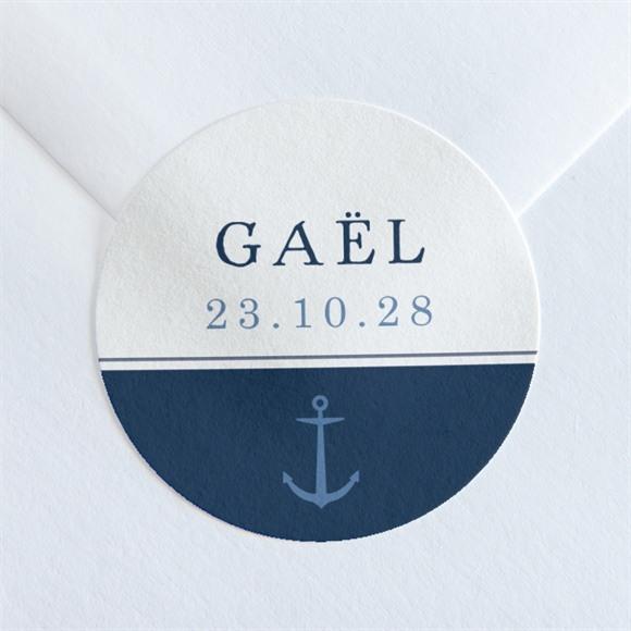 Sticker naissance Ancres et motifs réf.N360116