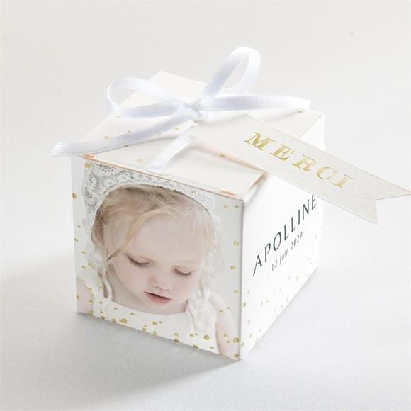 Boîte de dragées baptême Jolie Sagesse réf.N340328