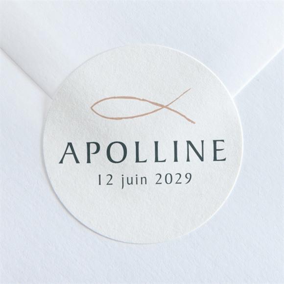 Sticker baptême Jolie Sagesse réf.N360119
