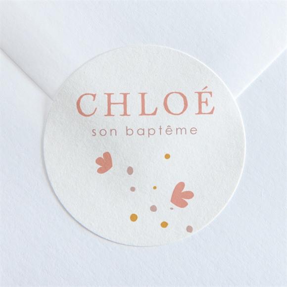 Sticker baptême Subtil Tressage réf.N360125