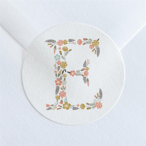 Sticker communion Signature Florale réf.N360130