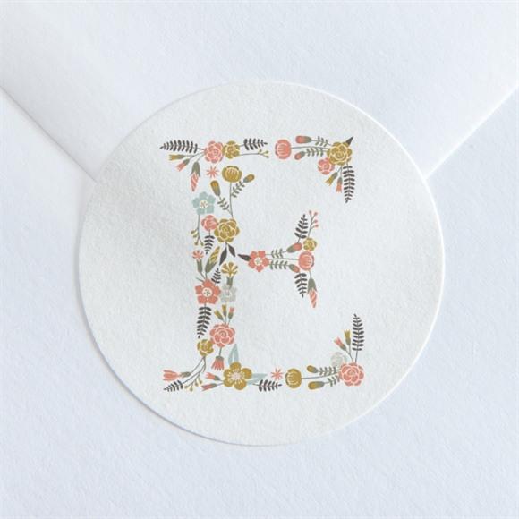 Sticker communion Signature Florale réf.N360130