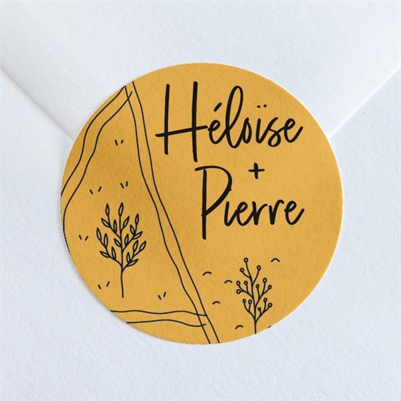 Sticker mariage Bohême chic réf.N360132