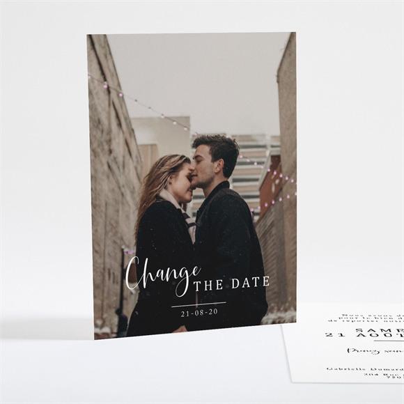 Faire-part mariage Change The Date réf.N25119