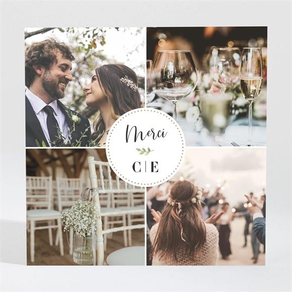 Remerciement mariage Feuillage d'été réf.N3001652