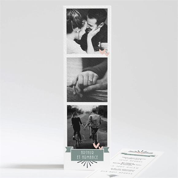 Faire-part mariage Petit Pele Mele réf.N201225
