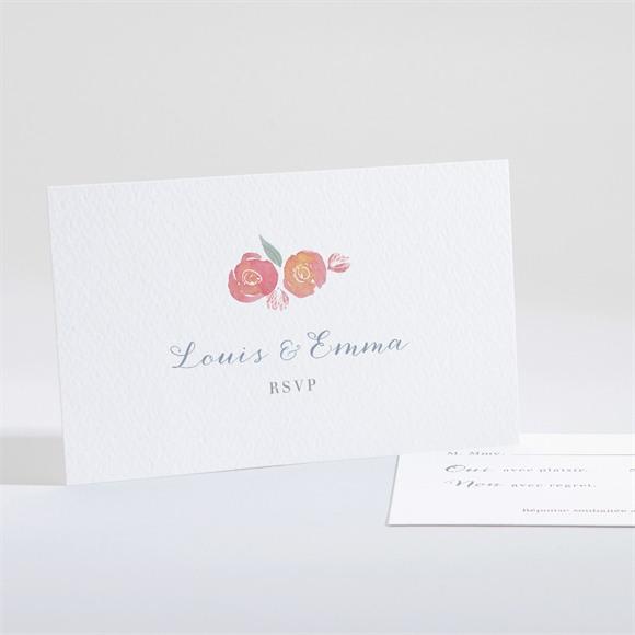 Carton réponse mariage Couronnés réf.N161162