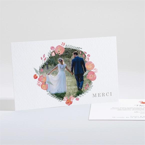 Remerciement mariage Couronnés réf.N161163
