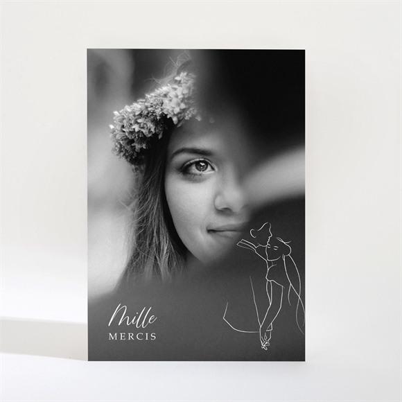 Remerciement mariage Belle Esquisse Magnet réf.N21027