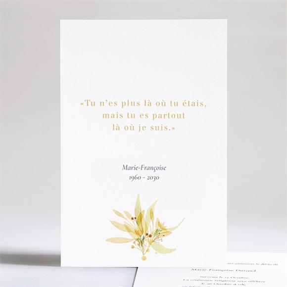Faire-part décès Fleur Sauvage réf.N241228
