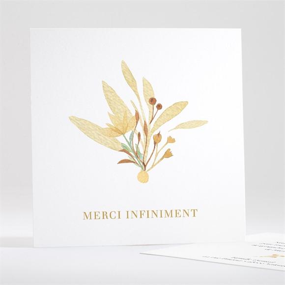 Remerciement décès Fleur Sauvage réf.N351144