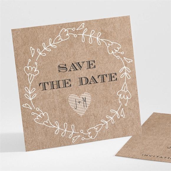 Save the Date mariage Kraft en folie réf.N301268
