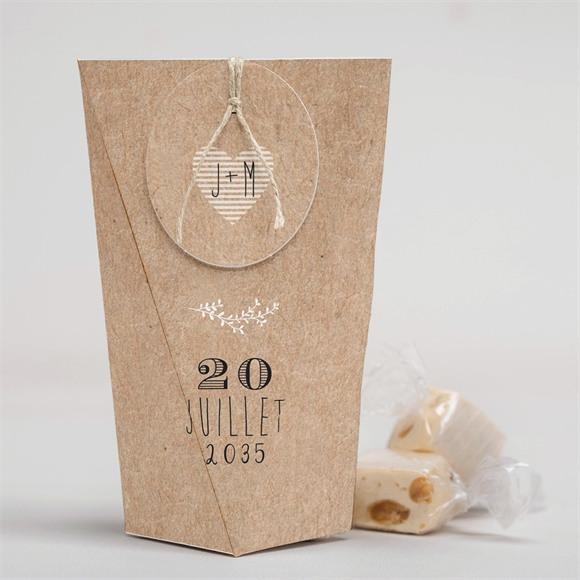 Boîte surprise mariage Kraft en folie réf.N52026