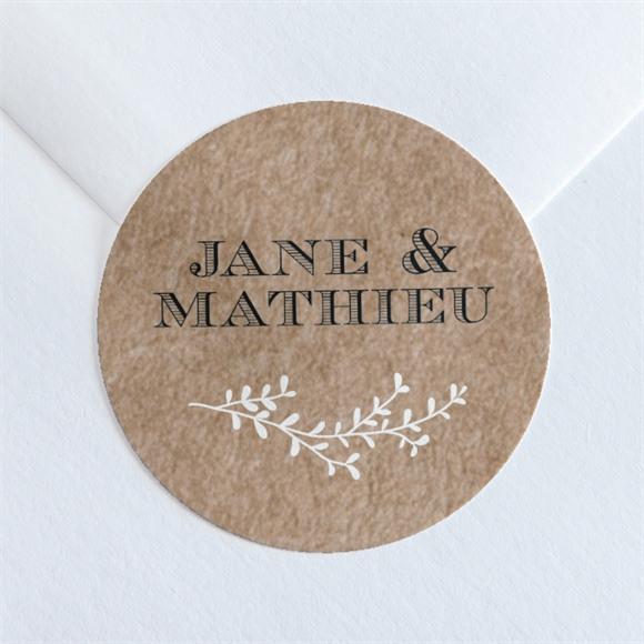 Sticker mariage Kraft en folie réf.N360147