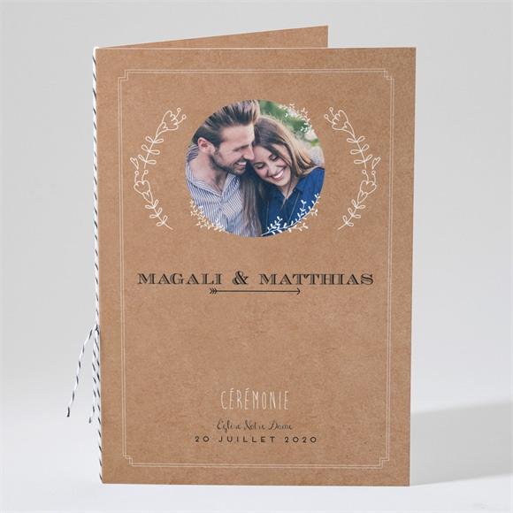 Livret de messe mariage Kraft vintage réf.N491238