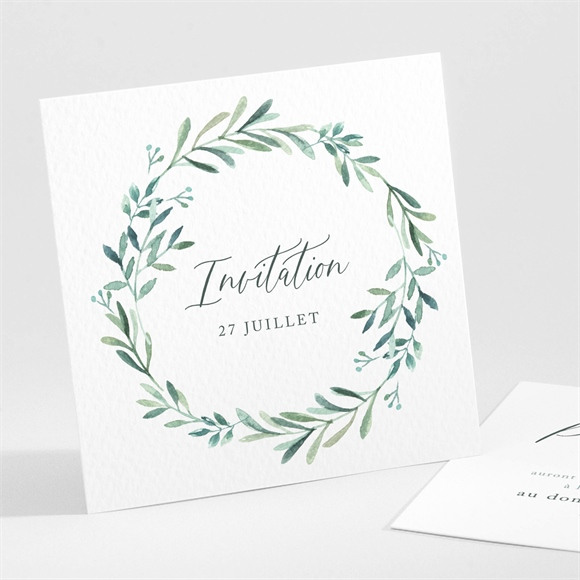 Carton d'invitation mariage Semer notre Amour réf.N301276