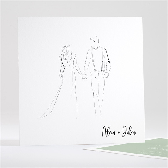 Save the Date mariage Beauté à fleurir réf.N351148