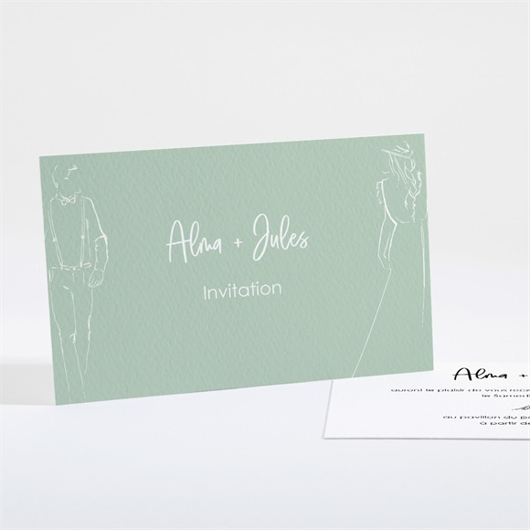 Carton d'invitation mariage Beauté à fleurir réf.N161164