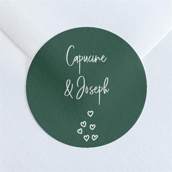 Sticker mariage Trésor en médaillon réf.N360161