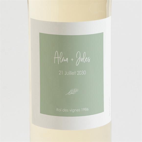 Etiquette de bouteille mariage Beauté à fleurir réf.N3001674