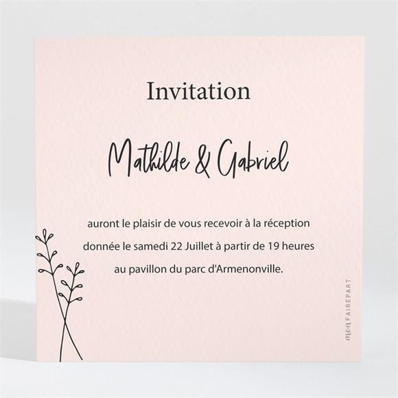Carton d'invitation mariage Dites-le avec des fleurs réf.N3001675