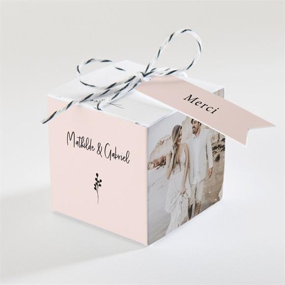 Boîte de dragées mariage Dites-le avec des fleurs réf.N340345