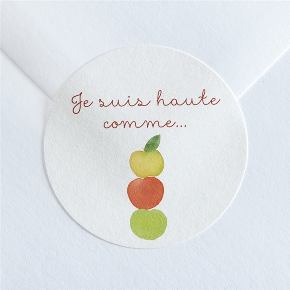 Sticker naissance Comme 3 pommes réf.N360173