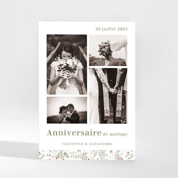 Invitation anniversaire de mariage Positif réf.N21059