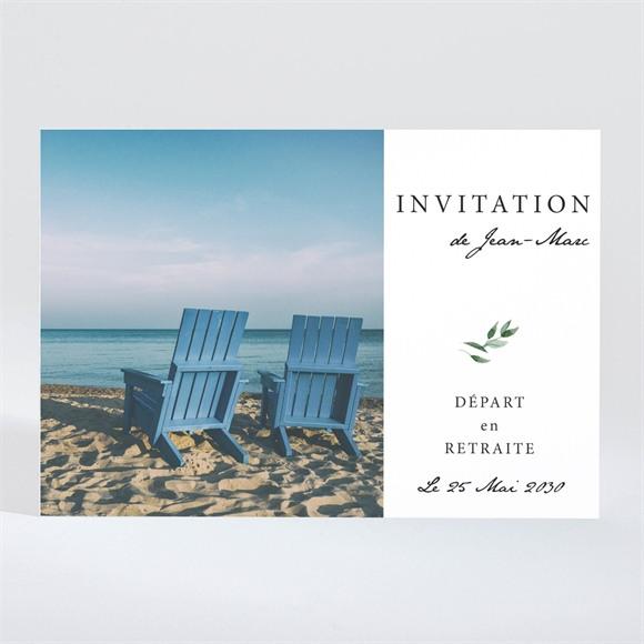 Carte invitation départ à la retraite Playa! réf.N11060