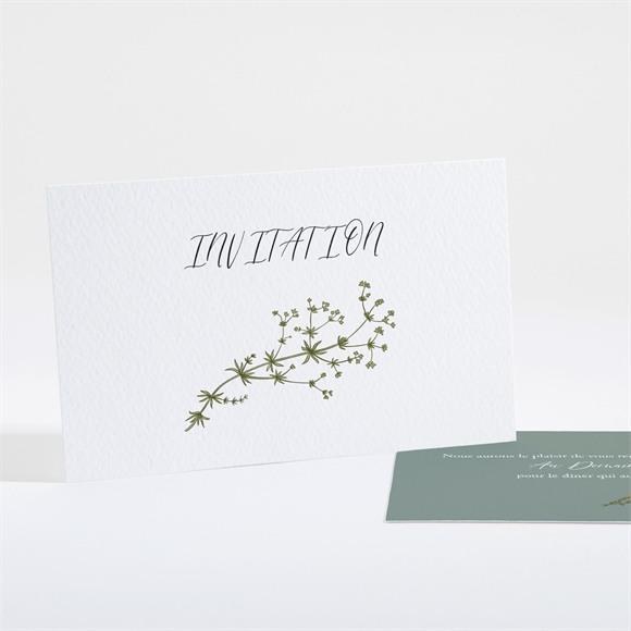 Carton d'invitation mariage Gravure Champêtre réf.N161168
