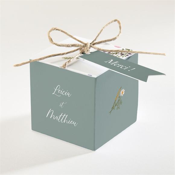 Boîte de dragées mariage Gravure Champêtre réf.N340349