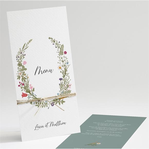 Menu mariage Gravure Champêtre réf.N221151