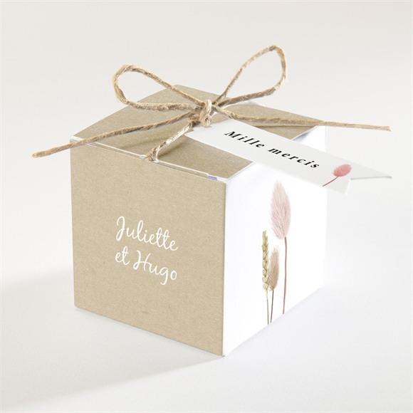 Boîte de dragées mariage Notre Bouquet Champêtre réf.N340352