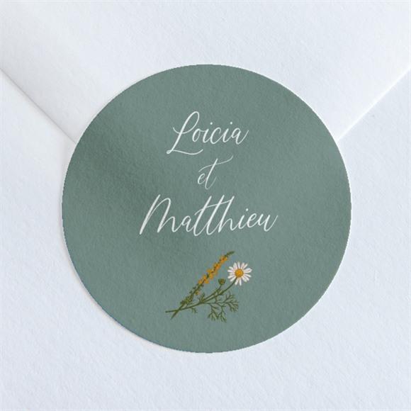 Sticker mariage Gravure Champêtre réf.N360165
