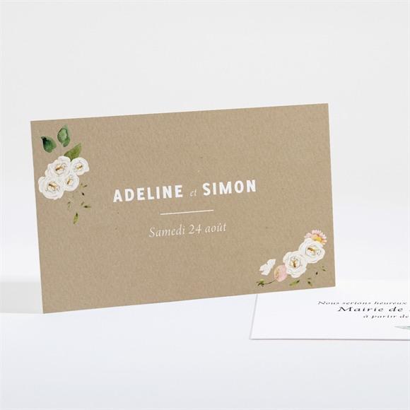 Carton d'invitation mariage Champêtre et Poésie réf.N161171