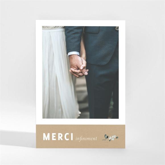 Remerciement mariage Champêtre et Poésie réf.N21049