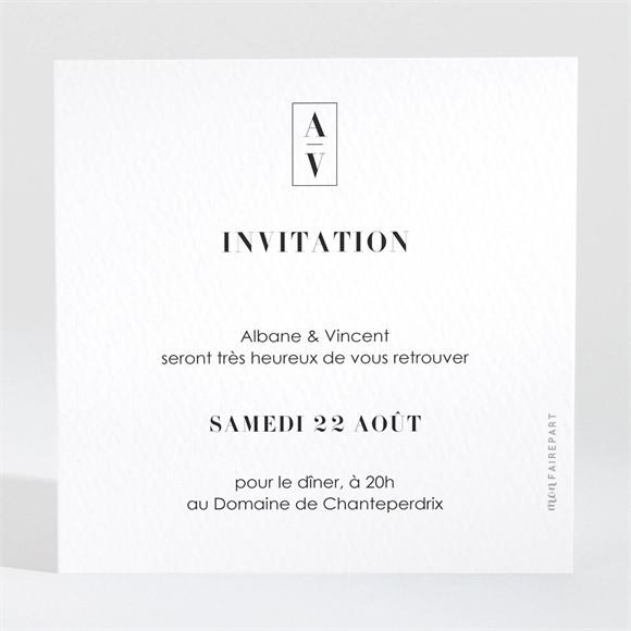 Carton d'invitation mariage So Nature ! réf.N3001704
